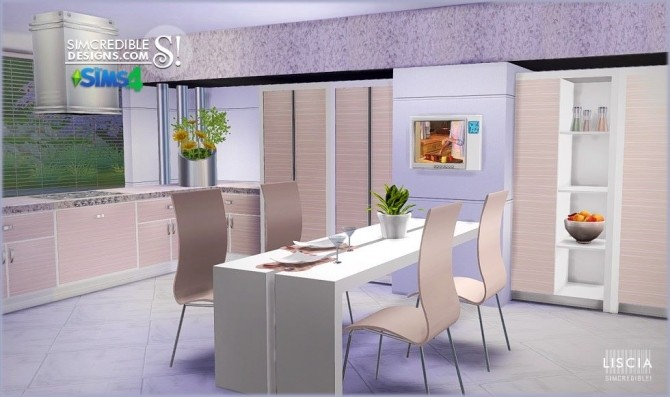 Liscia kitchen at SIMcredible! Designs 4 image 56 670x397 Sims 4 Updates
