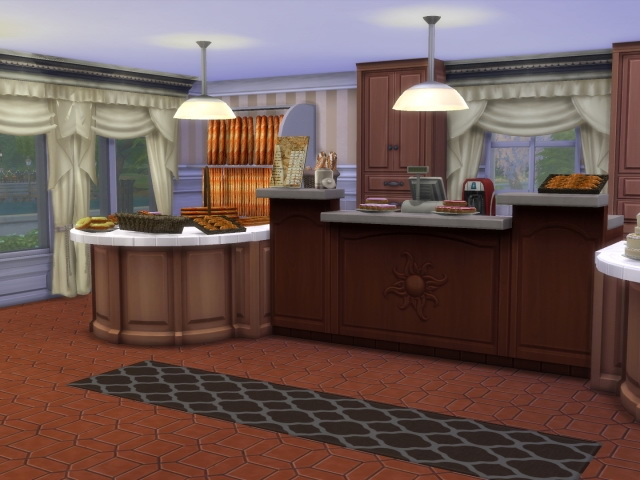 Morgenrot Cafe / Bakery by OldBox at All 4 Sims image 5610 Sims 4 Updates