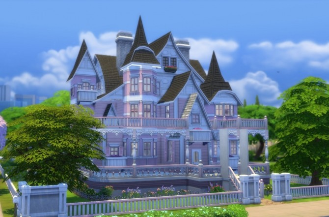 Sims 4 Pristine Pink Victorian by Christine11778 at Mod The Sims