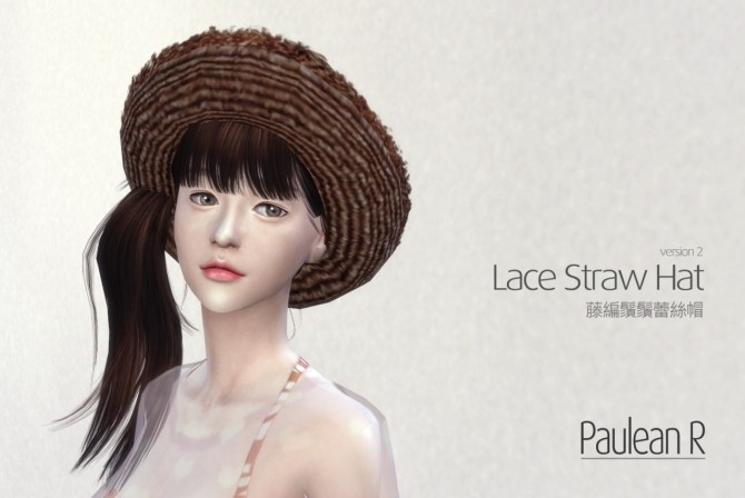 Lace Straw Hat V2 at Paulean R image 569 670x448 Sims 4 Updates