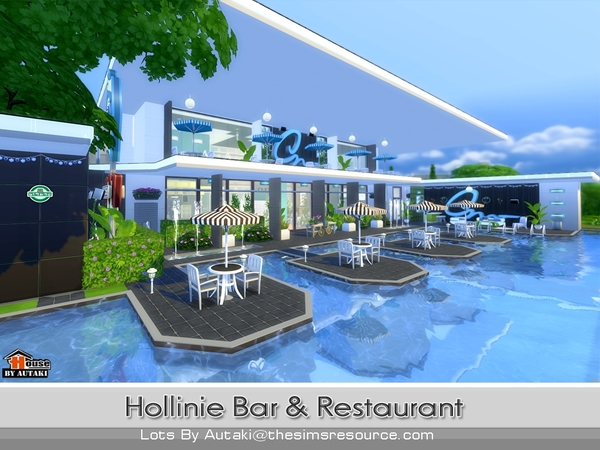 Hollinie bar and restaurant by autaki at tsr sims updates