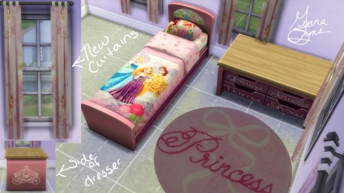 Disney Princess Bedroom Set By Ginnawilson At Mod The Sims