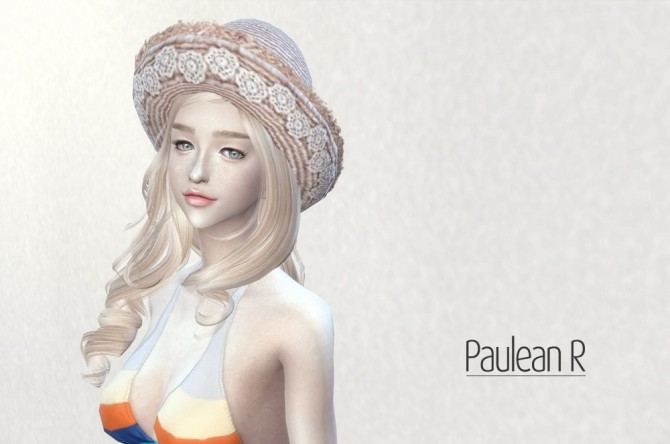 Lace Straw Hat V2 at Paulean R image 578 670x444 Sims 4 Updates