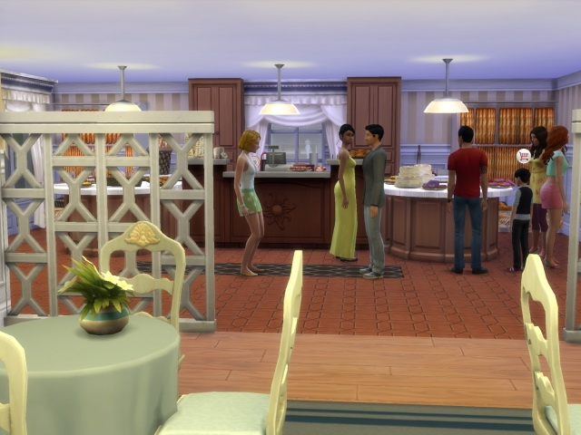 Morgenrot Cafe / Bakery by OldBox at All 4 Sims image 579 Sims 4 Updates