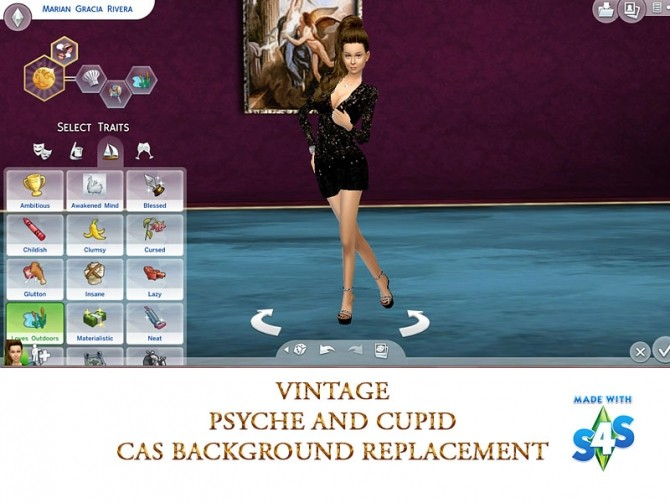 Cas Background vintage psyche And Cupid by mayasims at Mod The Sims image 581 670x503 Sims 4 Updates