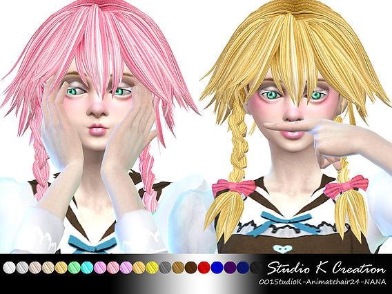 Sims 4 Animate hair 24 NANA at Studio K Creation