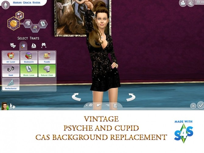 Cas Background vintage psyche And Cupid by mayasims at Mod The Sims image 591 670x503 Sims 4 Updates