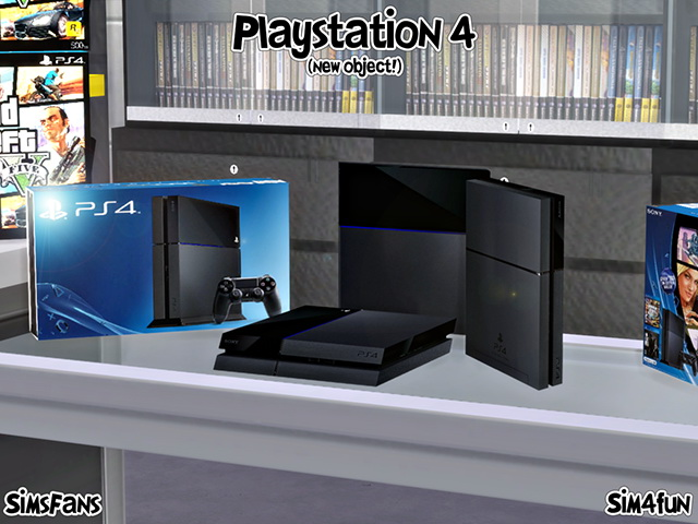 Playstation 4 New Mesh! by Sim4fun at Sims Fans image 5921 Sims 4 Updates