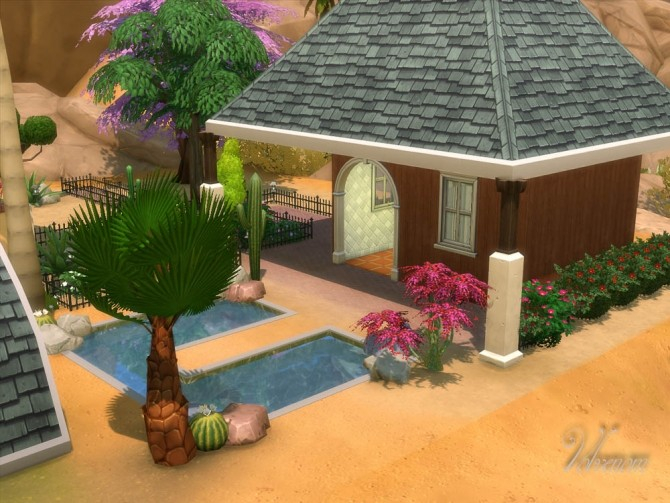 Bonsai Garden no CC house by Volvenom at Mod The Sims image 593 670x503 Sims 4 Updates