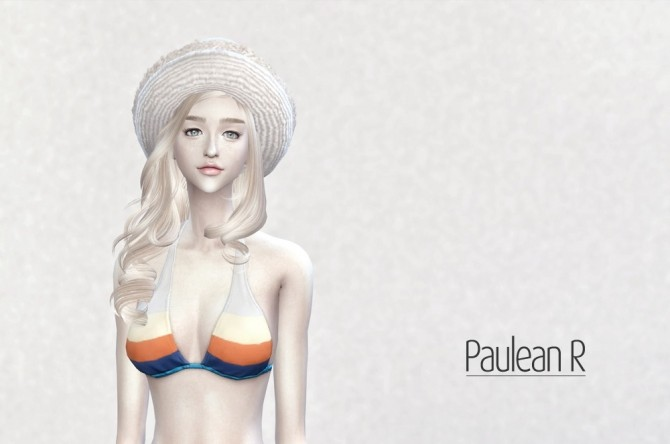 Lace Straw Hat V2 at Paulean R image 599 670x444 Sims 4 Updates