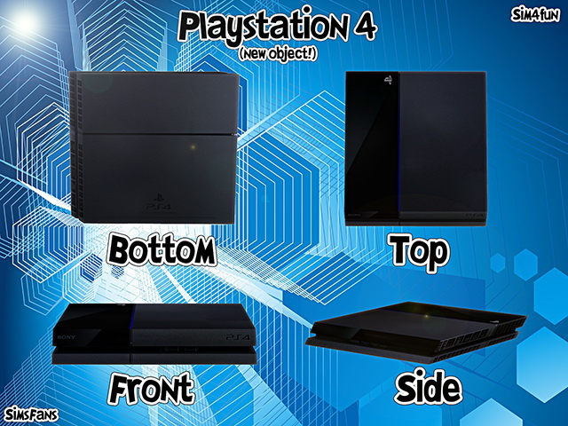 Playstation 4 New Mesh! by Sim4fun at Sims Fans image 6021 Sims 4 Updates