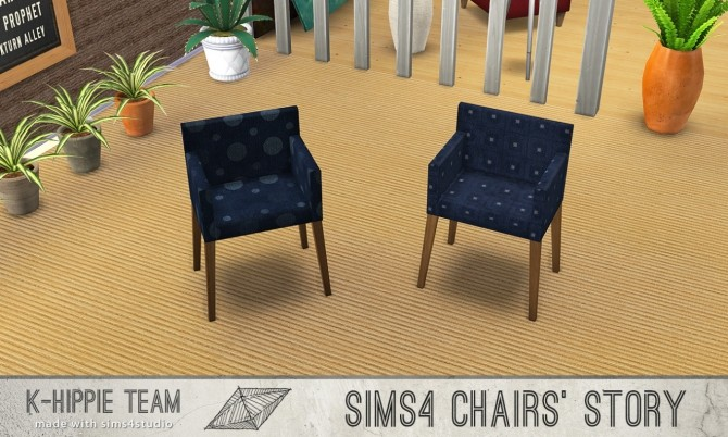10 chairs recolours Ekai serie in Blue at K hippie image 6025 670x402 Sims 4 Updates