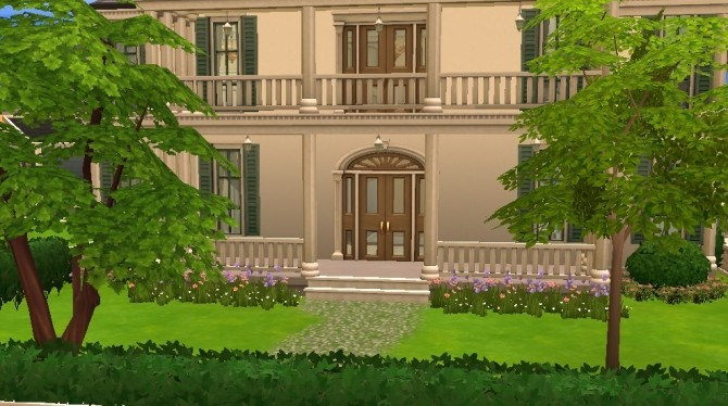 Sims 4 Colonial House by Bunny m at Mod The Sims