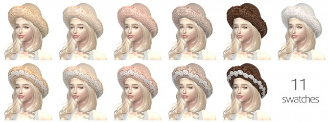 Sims 4 Lace Straw Hat V2 at Paulean R