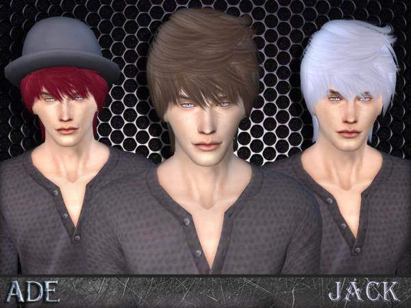 Sims 4 Ade Jack hair by Ade Darma at TSR
