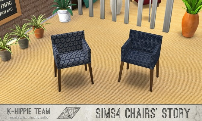10 chairs recolours Ekai serie in Blue at K hippie image 6130 670x402 Sims 4 Updates