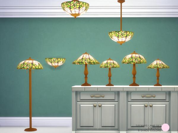 Tiffanys Lamp Set By Dot At Tsr 187 Sims 4 Updates