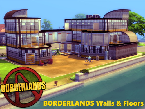 BORDERLANDS Walls & Floors at TwistedFoil image 6211 Sims 4 Updates