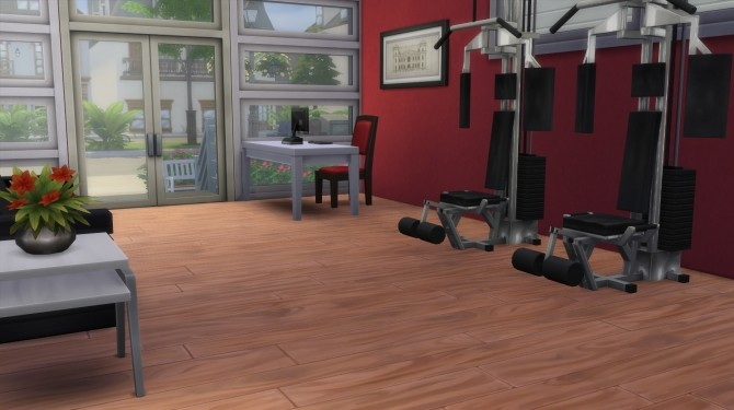 Mayfair gym no cc by karenlorraine at mod the sims