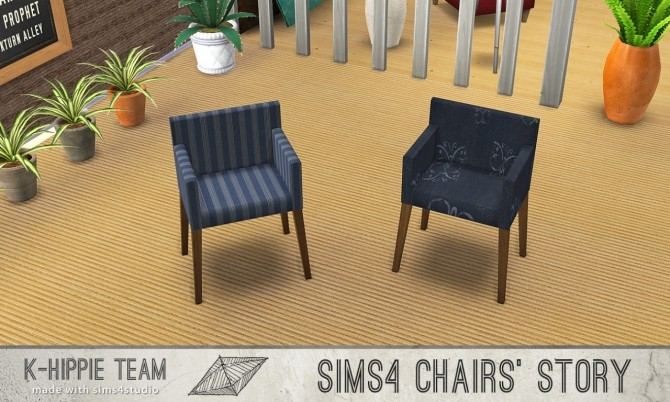 Sims 4 10 chairs recolours Ekai serie in Blue at K hippie