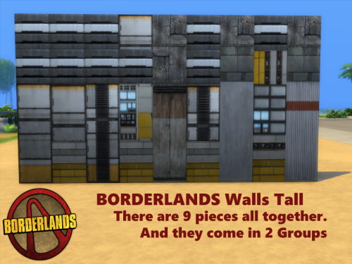 BORDERLANDS Walls & Floors at TwistedFoil image 6310 Sims 4 Updates