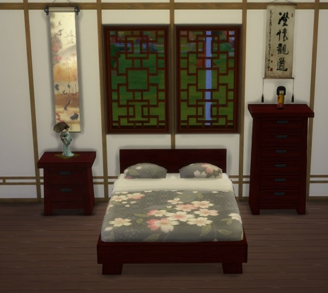 Modern Asian Bedroom Set at Lexicon Luthor » Sims 4 Updates