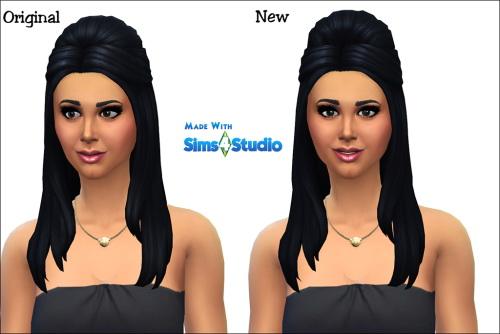 Sims 4 Luxury Suite Long Straight Half Up Edited at Julietoon – Julie J