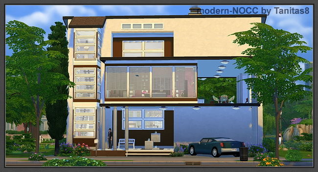 Modern house no CC at Tanitas8 Sims » Sims 4 Updates