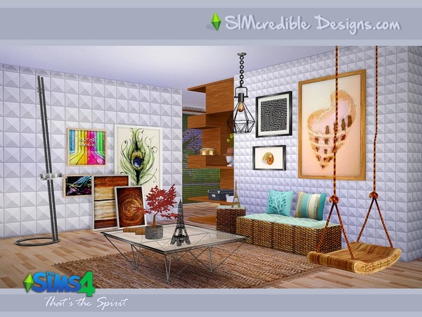 Sims 4 Thats the Spirit livingroom by SIMcredible! at TSR