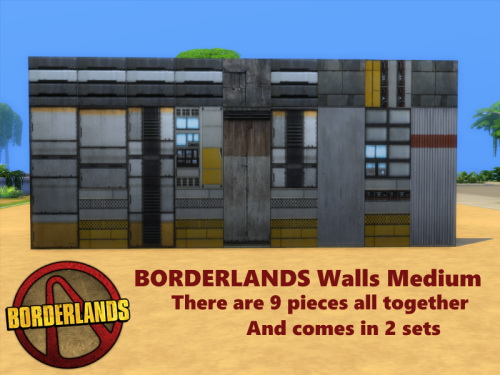 BORDERLANDS Walls & Floors at TwistedFoil image 648 Sims 4 Updates