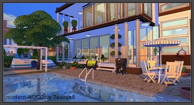 Modern house no CC at Tanitas8 Sims » Sims 4 Updates