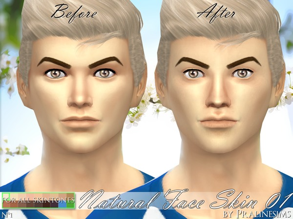 PS Natural Face Skin 01 by Pralinesims at TSR image 660 Sims 4 Updates