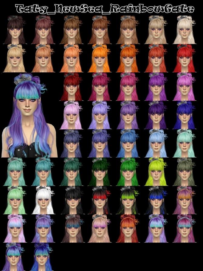 Sims 4 Newseas Rainbow Gate hair retexture at Taty – Eámanë Palantír