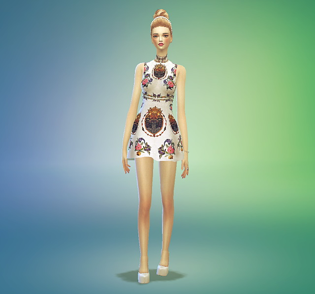 Sims 4 Rose one piece dress at Marigold