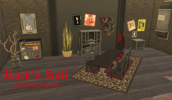 Rock 39 N Roll Set At Leander Belgraves Sims 4 Updates