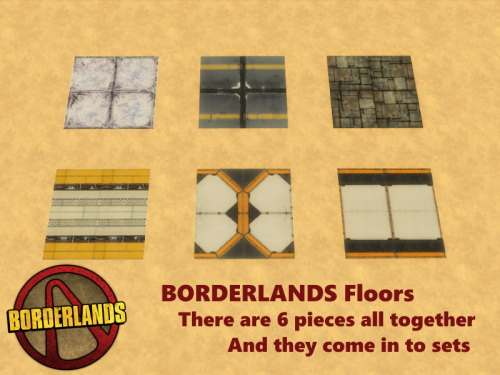 BORDERLANDS Walls & Floors at TwistedFoil image 669 Sims 4 Updates