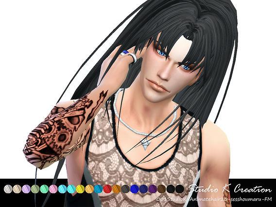 Sims 4 Animate hair 20 sesshoumaru at Studio K Creation