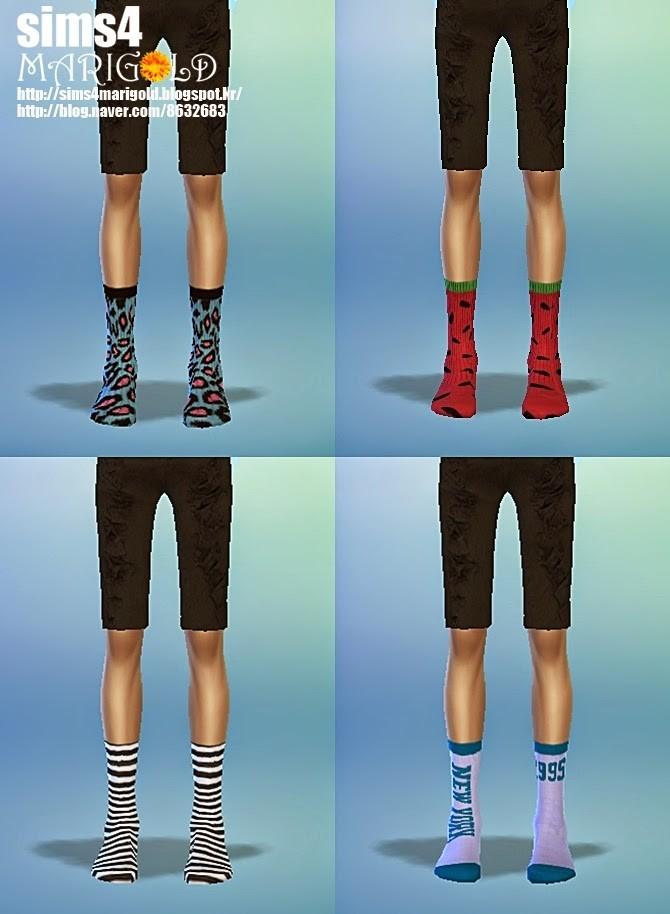 Calf Socks 4 At Marigold 187 Sims 4 Updates