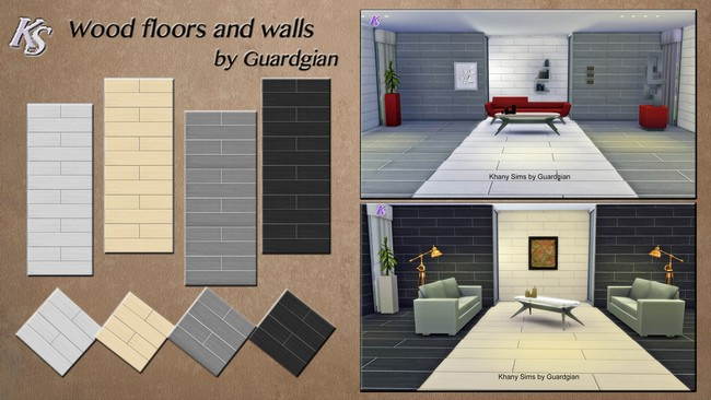 Sims 4 Wood floors and walls by Guardgian at Khany Sims