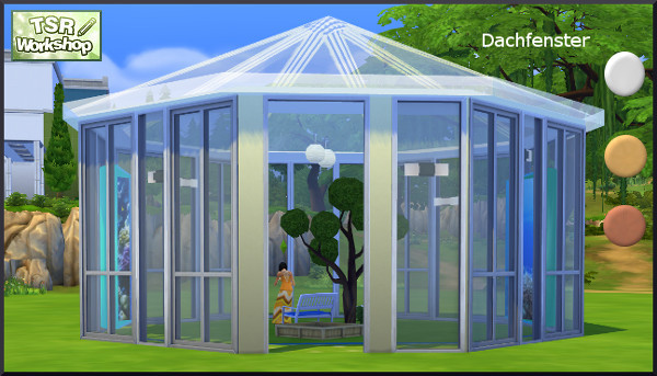 Glass roof by Christine1000 at Sims Marktplatz image 6812 Sims 4 Updates