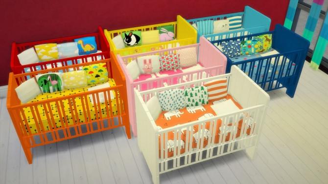 7 Crib Recolors At Budgie2budgie 187 Sims 4 Updates