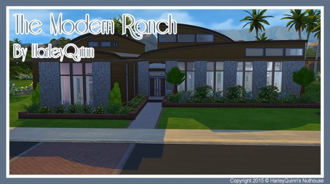 Sims 4 The Modern Ranch at Harley Quinn's Nuthouse
