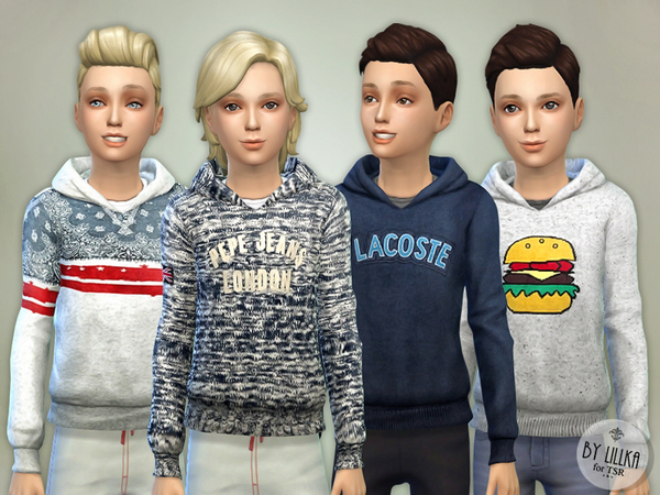 Hoodie for Boys P02 by lillka at TSR image 7108 Sims 4 Updates