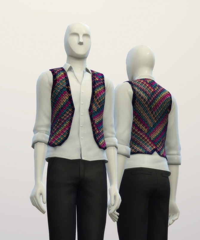 Knitted sweater pattern vest at Rusty Nail image 7123 670x804 Sims 4 Updates