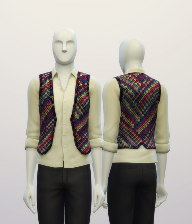 Knitted sweater pattern vest at Rusty Nail image 7222 670x782 Sims 4 Updates