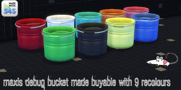 Bucket made buyable 9 recolors at Loverat Sims4 image 7310 Sims 4 Updates