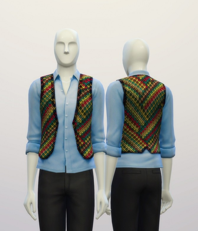 Knitted sweater pattern vest at Rusty Nail image 7322 670x782 Sims 4 Updates