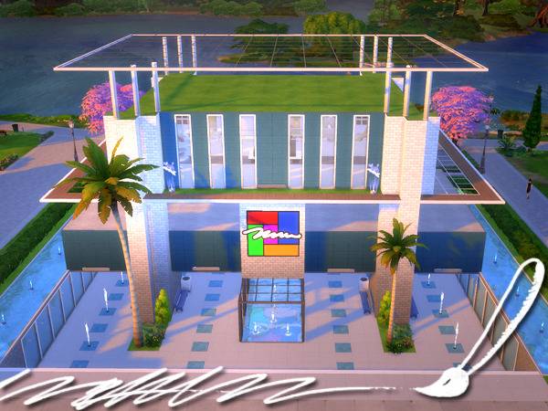 Sims 4 Art Gallery Store by Waterwoman at Akisima