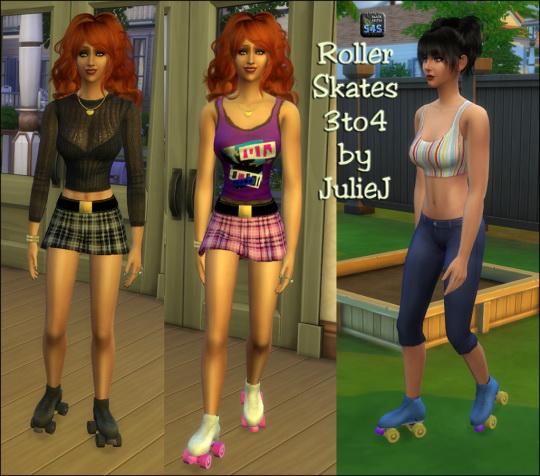 3to4 Roller Skates F at Julietoon – Julie J image 7420 Sims 4 Updates
