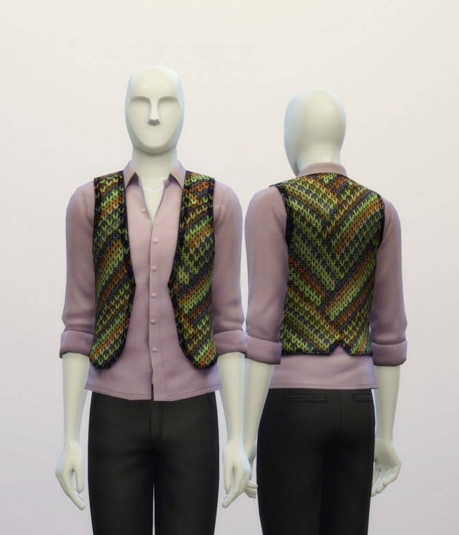 Knitted sweater pattern vest at Rusty Nail image 7421 670x782 Sims 4 Updates